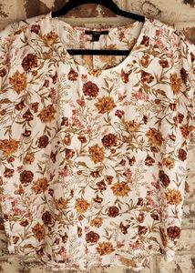 Forever 21 | fall florals blouse
